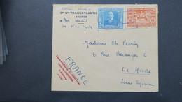 Panama Lettre Par Avion Pour Le Havre France 1936 , Cover From Panama To France 1936 - Panama