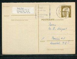 Berlin / Postkarte (Frageteil) Mi. P 87F O (18270) - Berlin (West)