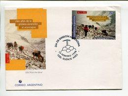CIEN AÑOS DE LA PRIMERA ASCENSION AL ACONCAGUA. ARGENTINA 1998, SOBRE PRIMER DIA ENVELOPE FDC - LILHU - Geología