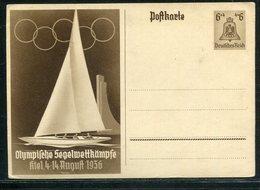 """Deutsches Reich / 1936 / Sonderpostkarte """"Olympiade-Segelwettkaempfe"""" ** (18271) - Allemagne"""