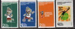 TURKEY, 2018, MNH, SOCCER, FOOTBALL, RUSSIA WORLD CUP, MASCOT, 4v - World Cup