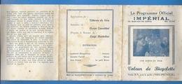 PROGRAMME OFFICIEL ANCIEN - CINEMA IMPÉRIAL  - VOLEUR DE BICYCLETTE DE VITTORIO DE SICA -  PATHÉ CONSORSIUM - SCÉNARIO - Programs