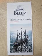 BELEM Dépliant Qui Explique Le Belem Avec Toutes Les Caractéristiques - Barche
