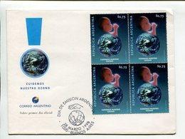 CUIDEMOS NUESTRO OZONO. ARGENTINA 1998, SOBRE PRIMER DIA ENVELOPE FDC - LILHU - Protección Del Medio Ambiente Y Del Clima