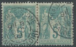 Lot N°49562  Paire Du N°75, Oblit Cachet à Date De CHALON-S-SAONE, SAONE-ET-LOIRE - 1876-1898 Sage (Type II)