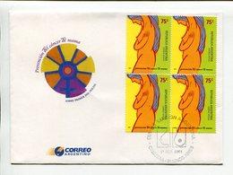 PREVENCION DEL CANCER DE MAMA. ARGENTINA 2001, SOBRE PRIMER DIA ENVELOPE FDC - LILHU - Enfermedades