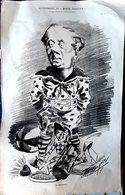 MUSIQUE OPERA  THEATRE DELAUNAY EN CLOWN GRANDE CARICATURE LITHOGRAPHIEE PAR LUQUE 54 X 34 CM - Posters