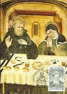 20.3.1981  -  St. Benedikt Im Gespräch Mit Seiner Schwester Schalastika.Fresko In Sacro Speco,Subiaco 14.Jh - Cartes Maximum