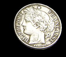 1 Franc  - Cérès - France - 1850 BB - Strasbourg  - Argent  - TB+ / TB - - France