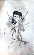 MUSIQUE OPERA  THEATRE M MARAIS EN SAUTERELLE GRANDE CARICATURE LITHOGRAPHIEE PAR LUQUE 54 X 34 CM - Posters