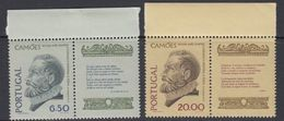 Portugal 1980 Camoes 2v+label  ** Mnh (43227A) - 1910-... Republiek