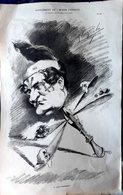 BONAPARTE NAPOLEON LE PRINCE  GRANDE CARICATURE LITHOGRAPHIEE PAR LUQUE 54 X 34 CM - Plakate