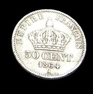 50 Centimes - Napoléon III - France - 1864 A  - Argent  - TB+  - - France