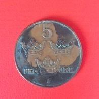 5 Öre Münze Aus Schweden Von 1925 (sehr Schön) - Schweden