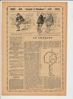 2 Scans Le Croquet Sport Jeu Vintage / Humour école élève Cancre 226CH7 - Unclassified