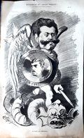 PAUL DE CASSAGNAC JOURNALISTE ET DUELLISTE GRANDE CARICATURE LITHOGRAPHIEE PAR LUQUE 54 X 34 CM - Posters