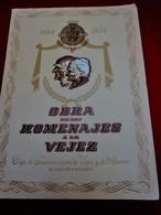 1904/54 OBRA DE LOS HOMANAJES A LA VEJEZ CAIA DE PENSIONE PARA LA VEJEZ DE ATHORRO DE CATALUNA Y BALEARES 50 Aniversario - Historical Documents