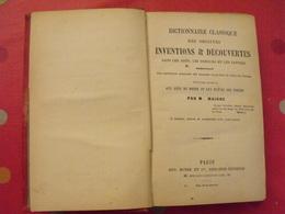Dictionnaire Des Origines Inventions & Découvertes Dans Les Arts, Sciences, Lettres. Maigne. Boyer 1882 - Livres, BD, Revues