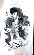 THEATRE OPERA ACTEUR M MAUREL GRANDE CARICATURE LITHOGRAPHIEE PAR LUQUE 54 X 34 CM - Posters