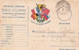 Carte Correspondance Franchise Militaire Guerre 1914 1918 Juin 1915 Labat Medecin 285 Rgt Infanterie Hersin Coupigny - Marcophilie (Lettres)