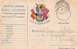 Carte Correspondance Franchise Militaire Guerre 1914 1918 Juin 1915 Labat Medecin 285 Rgt Infanterie Hersin Coupigny - Postmark Collection (Covers)