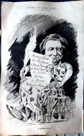 THEATRE OPERA VICTORIEN SARDOU GRANDE CARICATURE LITHOGRAPHIEE PAR LUQUE 54 X 34 CM - Posters