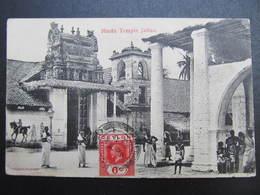 AK CEYLON JAFFNA Sri Lanka Hindu Temple 1913 // D*39076 - Sri Lanka (Ceylon)
