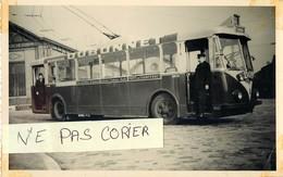 Photo Originale Du Trolley-bus R.A.T.P. Ligne 164 COLOMBES-PORTE De CHAMPERRET - Trasporto Pubblico Stradale