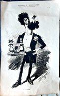 POLITIQUE ARTHUR MEYER ALSACE LORRAINE GRANDE CARICATURE LITHOGRAPHIEE PAR LUQUE 54 X 34 CM - Posters