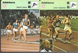 GF1018 - FICHES RENCONTRE - ATHLETISME - PEKKA VASALA - LASSE VIREN - MARTTI VAINIO - JUHA VAATAINEN - Athlétisme