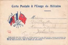 Carte Correspondance Franchise Militaire Guerre 1914 1918 Janvier 1916 Carte Postale Usage Du Militaire - Marcophilie (Lettres)