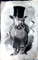 POLITIQUE JOURNAL RODEZ  LOUIS  OUSTRY GRANDE CARICATURE LITHOGRAPHIEE PAR LUQUE 54 X 34 CM - Posters