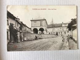 TOURS Sur MARNE Rue Du Pont En 1918 - France