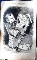 POLITIQUE SCANDALE DANIEL WILSON  GRANDE CARICATURE LITHOGRAPHIEE PAR LUQUE 54 X 34 CM - Posters