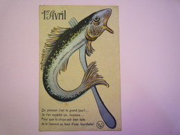 2019 - 1763  Très Jolie Carte  1er AVRIL   - 1° Aprile (pesce Di Aprile)