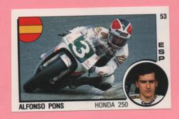 Figurina Panini Supersport - Alfonso Pons - Honda 250 - Trading Cards