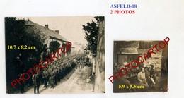 ASFELD LA VILLE-2x PHOTOS Allemandes-GUERRE 14-18-1WK-France-08- - Altri Comuni