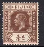 Fiji 1912-23 GV ¼d Brown Definitive, Wmk. Multiple Crown CA, Hinged Mint, SG 125 (BP2) - Fiji (...-1970)