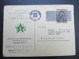 KARTE Praha - Pardubice Esperanto 1957  // D*39085 - Briefe U. Dokumente