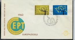 FDC De 1962  EUROPA  + Obl. Ruches D'abeilles (en Paille) - 1949-1980 (Juliana)