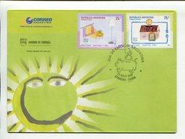 AHORRO DE ENERGIA- UPAEP AMERICA. ARGENTINA 2006, SOBRE PRIMER DIA ENVELOPE FDC - LILHU - Electricité