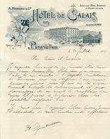 Hôtel De Calais à Bruxelles A. Moreau - Belgique