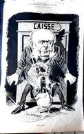 POLITIQUE SCANDALE JULES GREVY GRANDE CARICATURE LITHOGRAPHIEE PAR LUQUE 54 X 34 CM - Posters