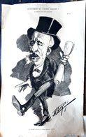 POLITIQUE MATHE CONSEIL DE PARIS GRANDE CARICATURE LITHOGRAPHIEE PAR LUQUE 54 X 34 CM - Posters