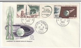 FDC - TAAF - PA N°11A   (1966) Lancement Du Premier Satellite Français - FDC