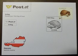 Brief Österreich   2008   Igel #cover 4823 - 1945-.... 2. Republik