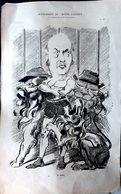 POLITIQUE CIRQUE GIDEL EN DOMPTEUR GRANDE CARICATURE LITHOGRAPHIEE PAR LUQUE 54 X 34 CM - Posters