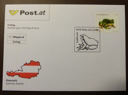 Brief Österreich   2008   Laubfrosch  #cover 4826 - 1945-.... 2. Republik