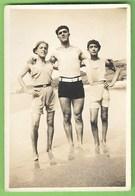Ericeira - REAL PHOTO - Três Amigos Na Praia - Homem - Man - Men - Homme - Gay - Lisboa