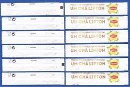 Lipton 2019, Portugal - Um Chá Lipton / Série Complète 6 Sachet Vides - Numéroté 1/6 - Zucchero (bustine)